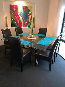 Glass Top Dining Room Table Buderim Maroochydore Area Preview