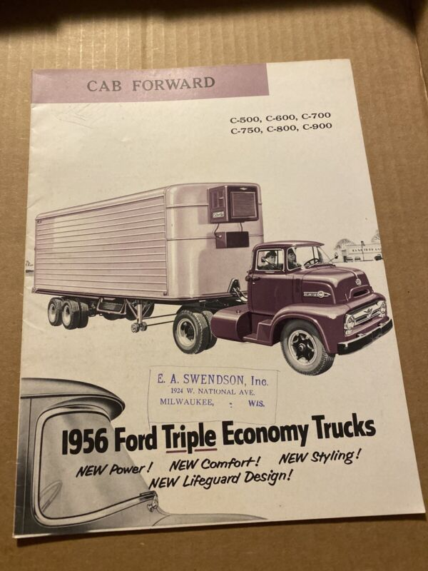 Ford 1956 Cab Forward Series C-500, 600, 700, 750, 800, 900 Sales Brochure Truck