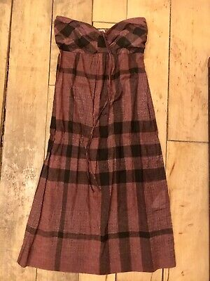 Burberry Brit Check Beach Dress Cover Up, Size S