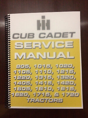 International Harvester Cub Cadet 1615 1620 1715 1720 Tractor Service Manual