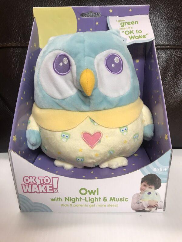Onaroo Green Glow When Ok To Wake Night Light & Music Soft Cuddly Owl Birth & Up