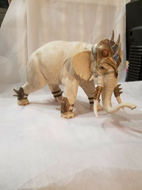 Schleich The Mighty Fighter War Elephant with great detail, resin