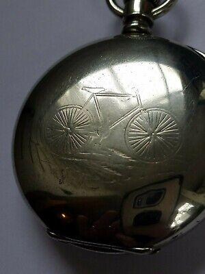 HUGE/1901/18s Waltham PS Bartlett 17J-ADJ POCKET WATCH /ANTIQUE SAFETY BICYCLE!