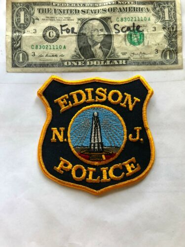 Edison New Jersey Police Patch un-sewn in Great Shape