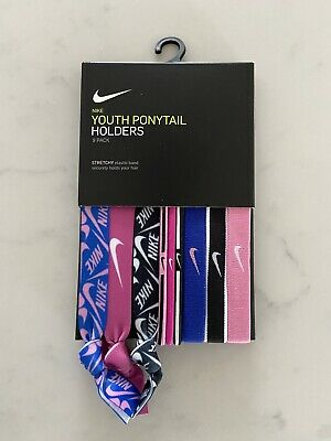 NIKE YOUTH PONY TAIL HEAD BANDS PACK OF 9 BRAND NEW OFFICAL PRODUCT  Head Tail Bands