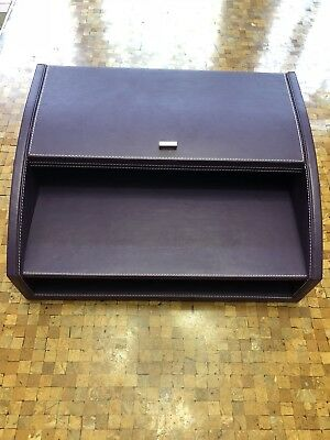 Swing Purple Leatherette Modern Desk Organizer 13.5X10.5X5.5 Hiding Compartments - Purple Office Supplies