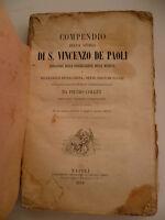 Compendio Di S. Vincenzo De Paoli Collet Napoli 1854 Guascogna - vince - ebay.it