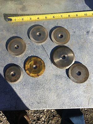 Large Lot 7 Piece Ilcohpckeilkey Cutting Machine Blades New Used