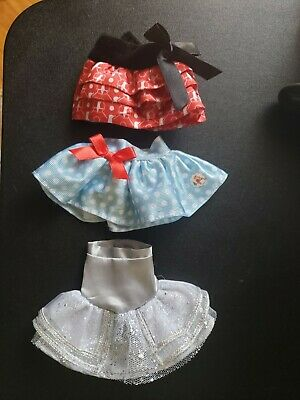 Lot of 3 Elf On The Shelf Claus Couture Outfits 2 Skirts and a Dress