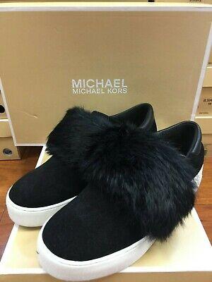 Micheal Kors Maven Sneaker (Black (Micheal Kors Black Flats)