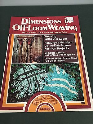 70's Vintage Dimensions In Off Loom Weaving Instruction Pattern Craft Booklet