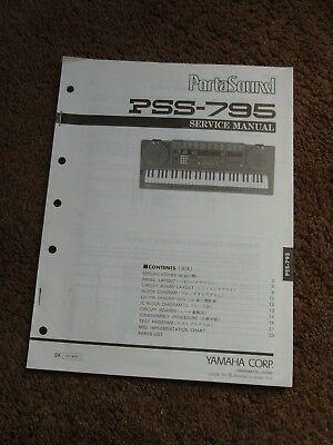 parts \u0026 accessories yamaha organ parts 2yamaha portasound keyboard pss 795 service manual schematics parts list oem