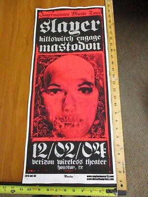 2004 Rock Roll Concert Poster Slayer Killswitch Engage Martin SN LE#100 Mastodon