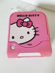 Hello Kitty CD Player Am/Fm Radio Alarm Clock Pink White KT2053A Sanrio