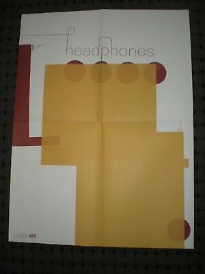 Poster By Headphones Promo For The Bands Release And Tour Music Album Cd Indie