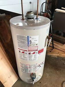 Natural gas hot water tank
