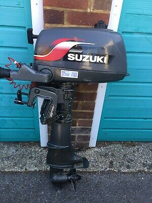 Suzuki DF4S Four Stroke Marine Outboard Engine - Black