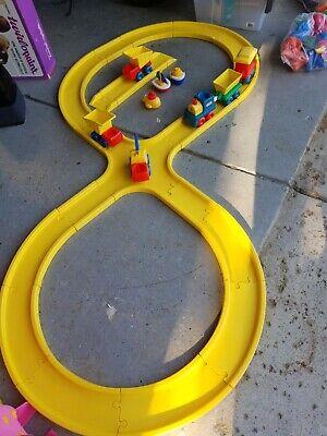 Vintage Little Tikes Creative Roadway Track Yellow lot truck & train