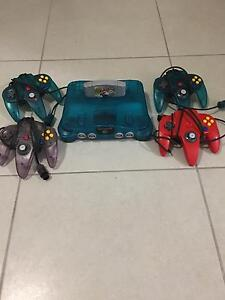 Nintendo 64 N64 Game Console, 4 controllers and Mario Kart Nundah Brisbane North East Preview