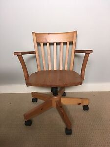 Ikea Wooden Office Chair