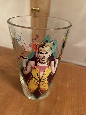 Harley Quinn Glasses (Harley Quinn Birds Of Prey 16 Ounce)