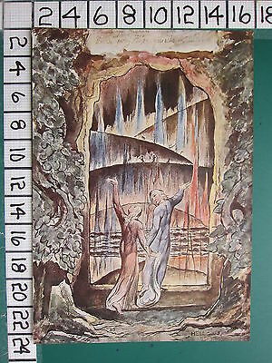 1945 WILLIAM BLAKE PRINT ~ DANTE & VIRGIL AT THE ENTRANCE TO HELL