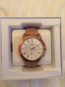 Fossil Q Grant Smart Watch - Rose Gold and Sand