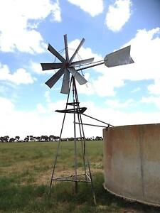 Small working windmill,Thompson Junior 6 foot wheel,working Allansford Warrnambool City Preview