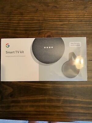 Google Smart TV Kit Google Home Mini + Chromecast New Sealed Fast Free Shipping