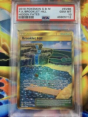 Pokemon Hidden Fates SV88 GOLD Brooklet Hill Card *GEM MINT PSA 10*