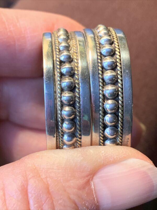 """Mexico 925 Sterling Silver 1.25"""" Hoop Earrings Pierced"""