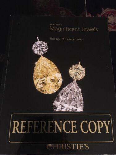 Christie's Magnificent Jewels  October 16, 2012 New York
