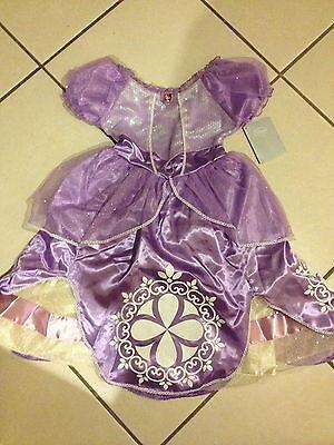 NEW! PRINCESS SOPHIA 1st FIRST Girls DRESS M 7/8 Disney Store HALLOWEEN Costume](Princess Sophia Costumes)