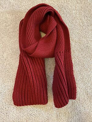 Vintage Scarf Styles -1920s to 1960s Rare Vintage 2000's Era Gap Scarf Red Thick Cable Knit $4.99 AT vintagedancer.com