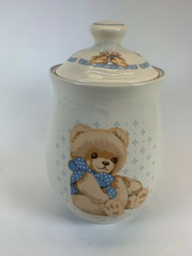 Tienshan Stoneware Theodore Country Bear  Canister  Ceramic  Teddy Bear