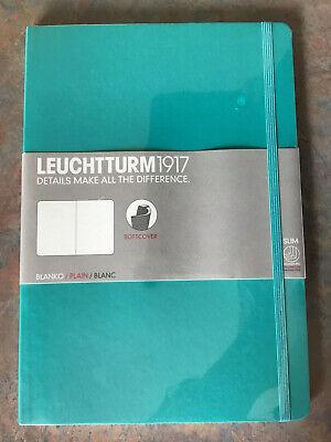 Leuchtturm 1917 Plain Soft Cover. Color Is Emerald..dimensions 178 X 254 Mm