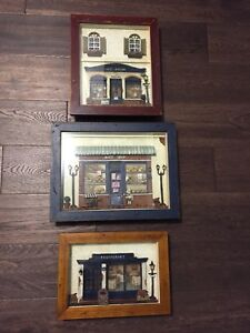 3D Box frame of French Bistro Collection