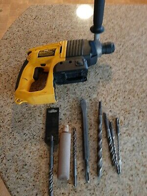 Dewalt Dw004 24 Volt 78 Sds Rotary Hammer Drill Bare Tool With Used Bits