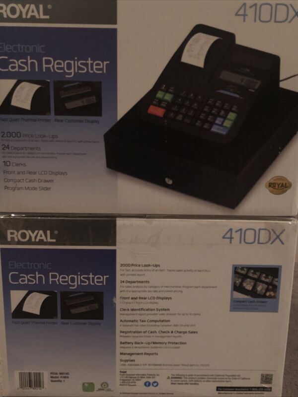 ✅ IN HAND ✅ Royal 410DX Electronic Cash Register Brand New, Ships ASAP!