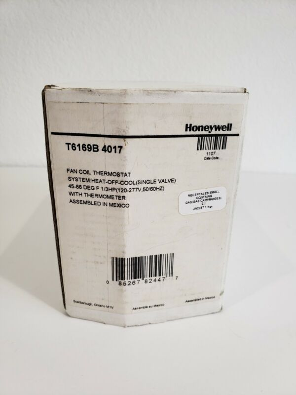 Honeywell T6169B 4017 Fan Coil Thermostat
