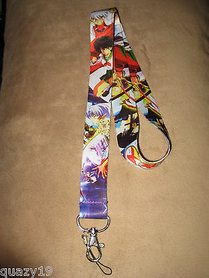 Inuyasha Lanyard Neck Strap Key Chain System Phone Holder