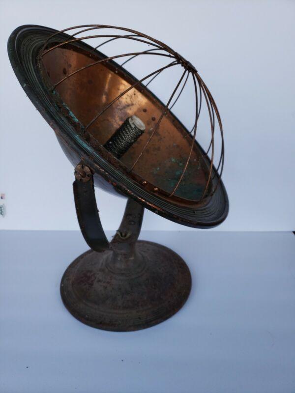 Vintage Universal Copper Bowl Electric Heater Landers Frary & Clark Light 9927