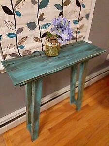 Rustic Teal Table