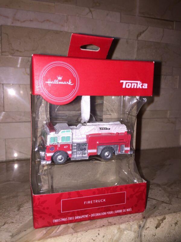 HALLMARK TONKA FIRE TRUCK CHRISTMAS TREE ORNAMENT