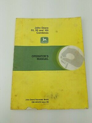 John Deere Operators Manual Combines 5595 And 105 Om-h65416 Issue H8