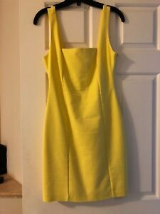 Brand new Low back- yellow summer dress size small