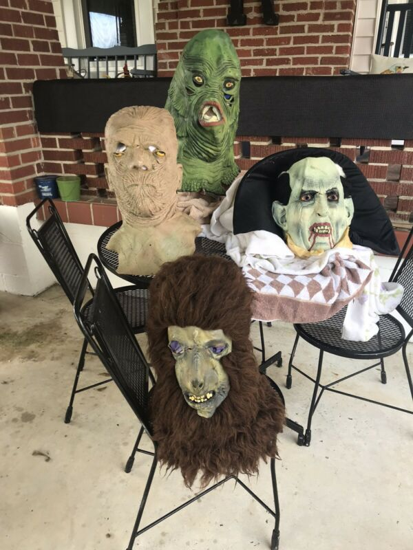 Vintage Illusive Concepts Universal Studios Monsters Masks Lot Of 4!! *RARE*