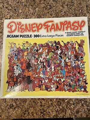 DISNEY Fantasy 300 Extra Large Pieces JIGSAW Puzzle Vintage 1981 Whitman