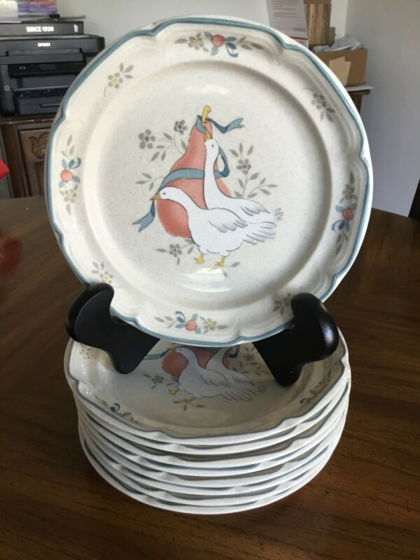 9 International China Stoneware Japan Marmalade 8868 Geese Duck Salad Plates