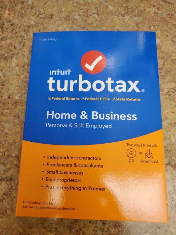 TURBOTAX 2019 HOME & BUSINESS FED & STATE -- CD